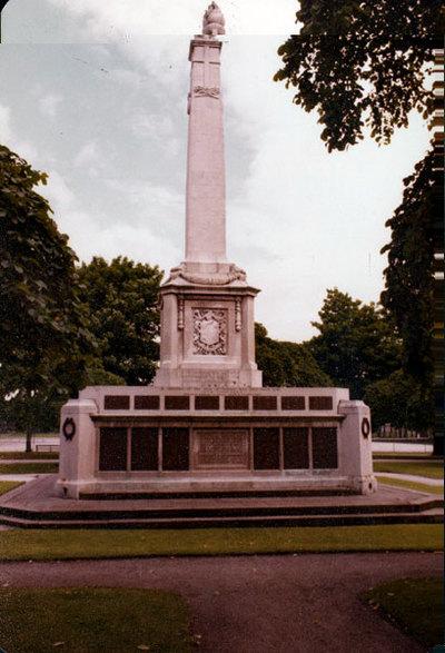 The War Memorial in Victoria Park, Widnes.