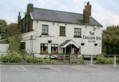 Unicorn Inn, Cronton. The pub was originally built in 1752.