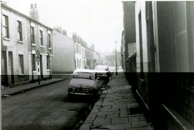 Ann Street looking from Lugsdale Road.The street on the left is Victoria Street, leading to St Maries Girls and Infants School in George Street, which ran parallel with Ann Street.