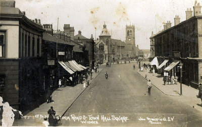 Victoria Road and Town Hall Square, Widnes.