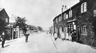 Appleton village from Birchfield Road showing entrance to Tythbard Street.