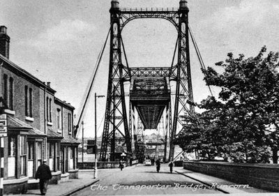 Transporter Bridge from the Runcorn side.