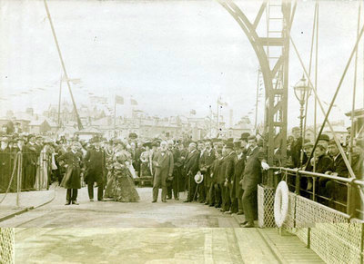 Opening ceremony of the Transporter Bridge.