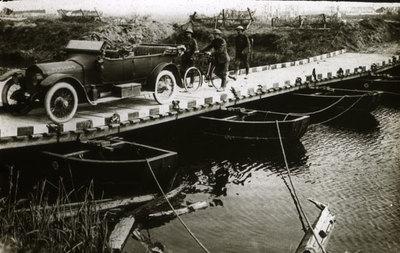 Car on pontoon