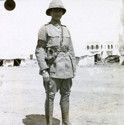 Officer in the desert