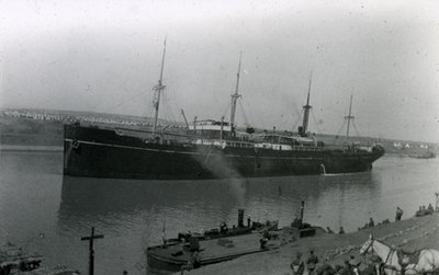 Danish tanker at Shallufa