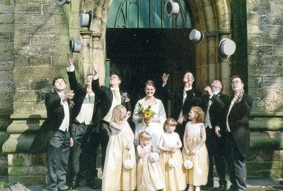 Wedding of Sandra Sidebotham and Damien Rayner.