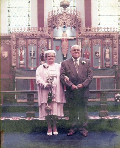Wedding of Marie Spencer and Eric Hibbert.