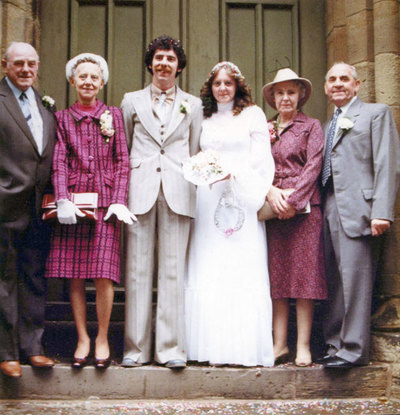 Wedding of Shirley Redfern, daughter of Nellie Marchington, and Philip Holgate