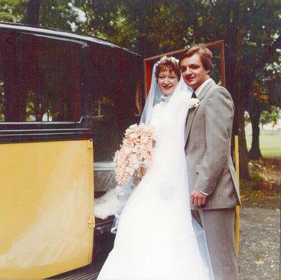 Wedding of Hazel Thorpe, daughter of Arthur Thorpe, and Simon Ayrton.
