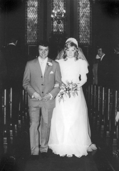 Wedding of Diane Postlethwaite and Paul Bradley, parents of Eve Bradley.