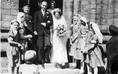 Wedding of Winifred Wild, sister of Vera Wild, and W. Dennis Bennett.
