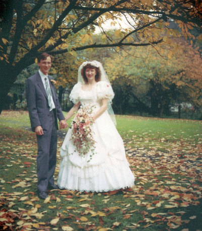 Wedding of Carolyn Riddick and Timothy Hawkins.