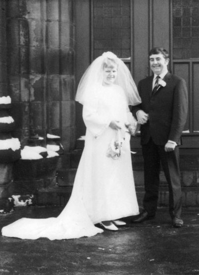 Wedding of Enid Waterhouse and Alan Vaughan