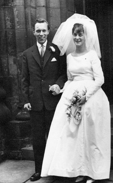 Wedding of Margaret White and Geoffrey Townson.