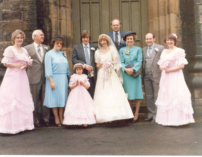 Wedding of Karen Taylor, sister of Adele, and Michael Wood.