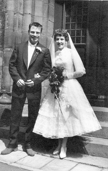 Wedding of Linda Perry, sister of Rita, and Bill Wild.