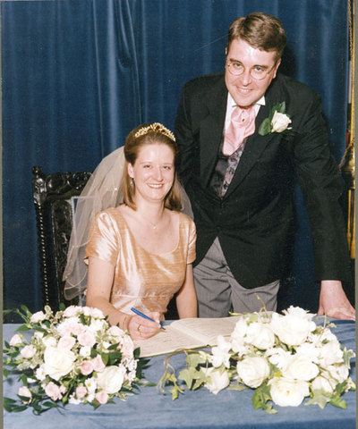 Wedding of Claire Hobson, nee Moss, and Richard Johnson.