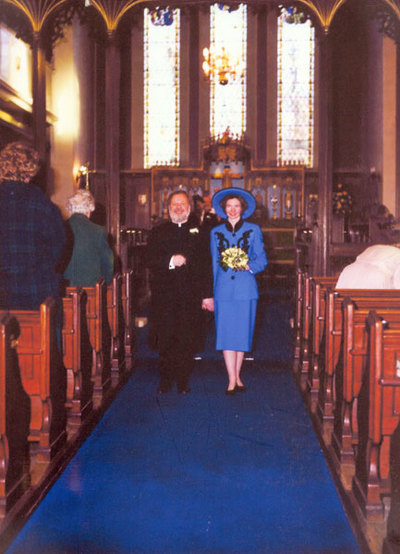 Wedding of Janet Phillips and Rev Edward Jervis