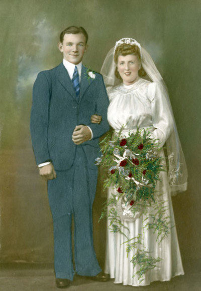 Wedding of James Bowers and Olive Kick