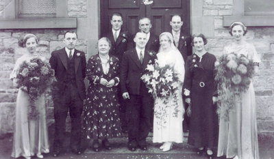 Wedding of George and Gladys Weston