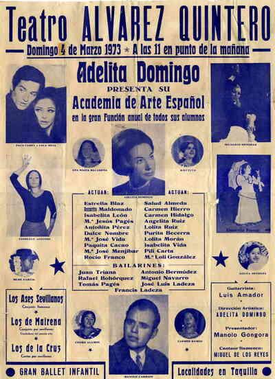 Gran función anual de la academia de arte Español de Adelita Domingo