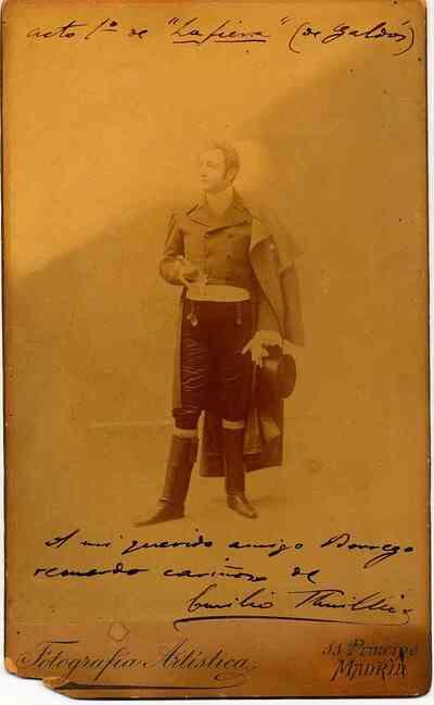 Emilio Thuillier en el acto 1º de la fiera (de Galdós)