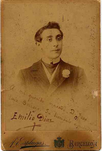 Emilio Díaz Garbadella. Retrato