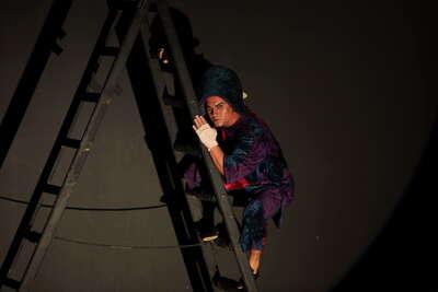 XXV años de Atalaya (celebración ): actores en papeles de varias producciones de Atalaya. Fot.001