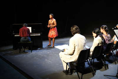 El gallo, Teatro-música para actores cantantes y ensamble instrumental. Fot.002