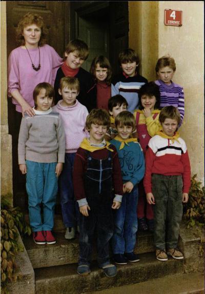 1. in 2. razred PŠ Črešnjevec - 1987