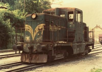 Lokomotiva, ki je vozila premog od Rudnika do železniške postaje