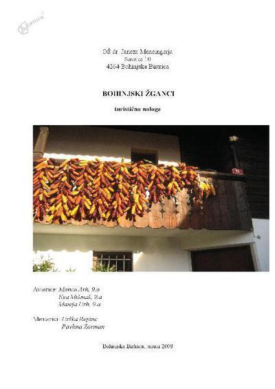 Bohinjski žganci - turistična naloga