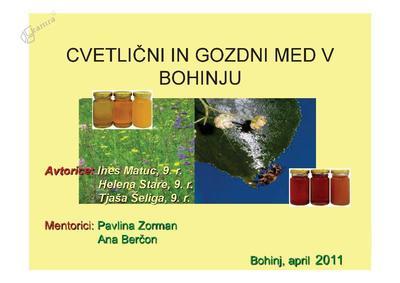 Cvetlični in gozdni med v Bohinju - predstavitev