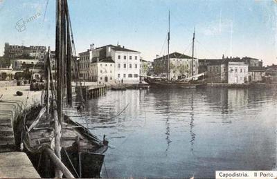 Capodistria. Il Porto. - spedita nel 1915