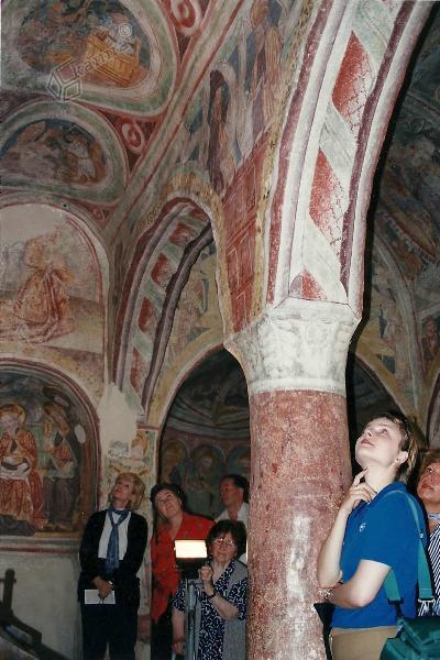 Hrastovlje, notranjost cerkve Sv. Trojice