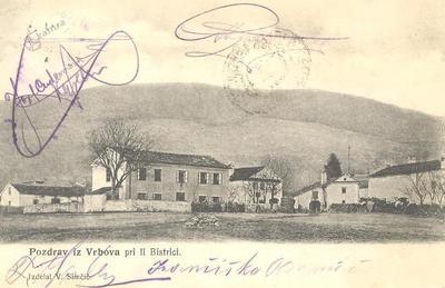 Pozdrav iz Vrbova, okoli 1907 leta