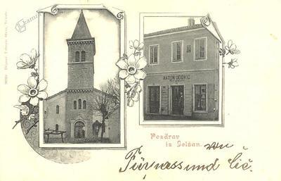 Pozdrav iz Jelšan, okrog 1911 leta