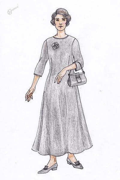 Predica v črni plesni obleki