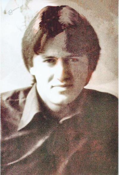 Jože Ovnik v mladih letih