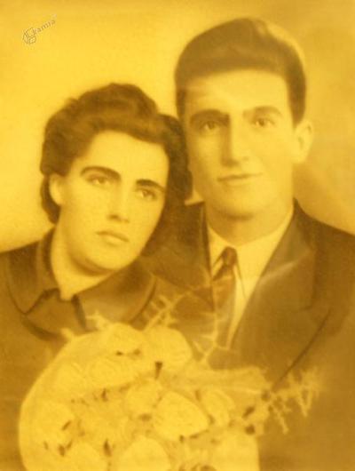Poročna slika Ovnikovih staršev