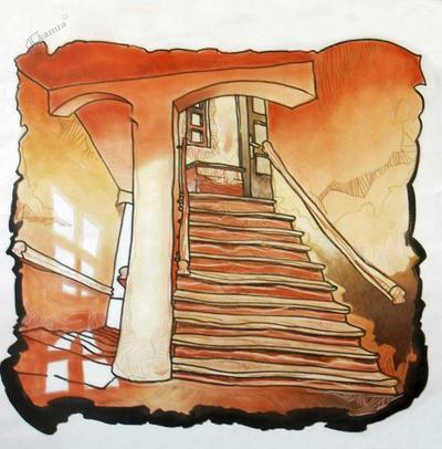 Ovnikova upodobitev stopnišča na gank