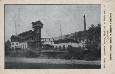 Papirnica Goričane okrog leta 1930