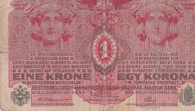 Bankovec za eno krono