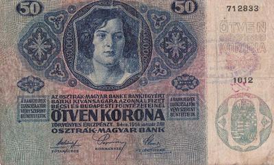 Bankovec za 50 kron