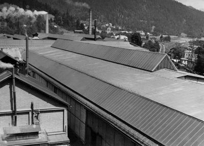 Strehe javorniških valjarn v 50. letih 20. stol.