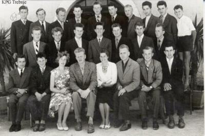 Drugi letnik slušateljev Nižje kmetijske šole v letu 1960