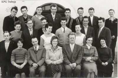 Prvi letnik slušateljev Nižje kmetijske šole v letu 1960