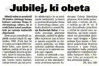 Kritika v Novem tedniku, 9.12.2005