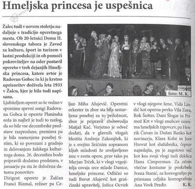 Kritika v Utripu Savinjske doline, december 2005